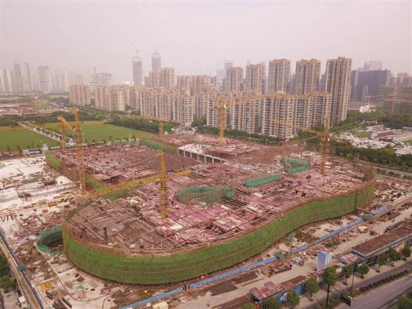 杭州奥体印象城拔地而起 预计明年6月开业